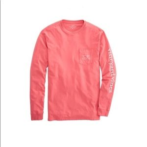 Vineyard Vines Long-Sleeve Vintage Whale Pink Top